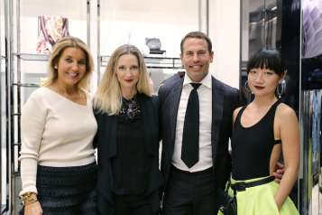 Tina Carlo, Hadley Henriette, Danny Jelaca, & Lexing Zhang at Burberry and MCB Fashion Experience