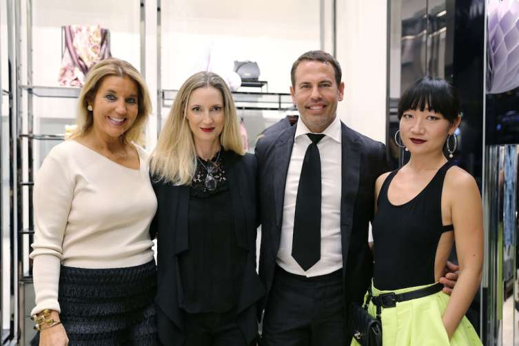Host committee Tina Carlo, Hadley Henriette, Danny Jelaca, & Lexing Zhang at Burberry and MCB Fashion Experience