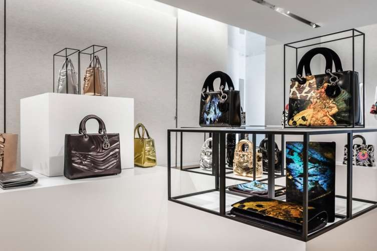 The Dior Lady Art range of bags premiered at the brand's boutique in Miami Design District.