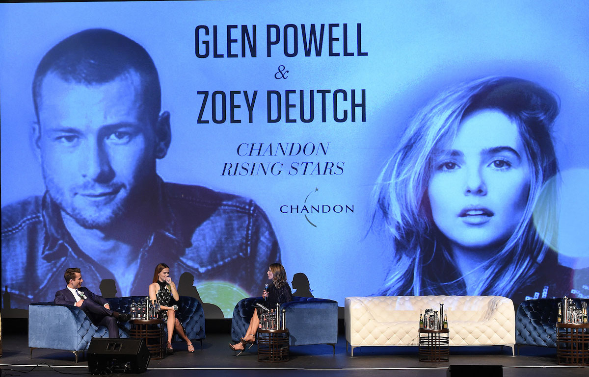 Glen Powell, Zoey Deutch, and Natalie Morales
