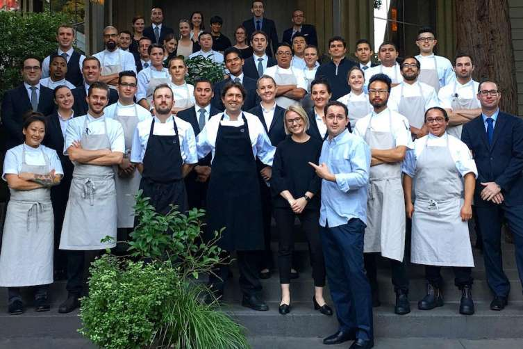 Chef Ben Shrewy and the team at Meadowood
