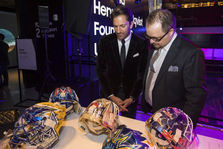 November 9, 2016: The 2nd annual Henrik Lundqvist Foundation Unmasked Event takes place at 837 NYC.
