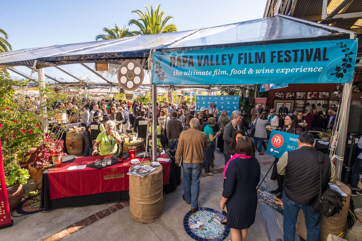 A tasting pavilion at last year's film festival