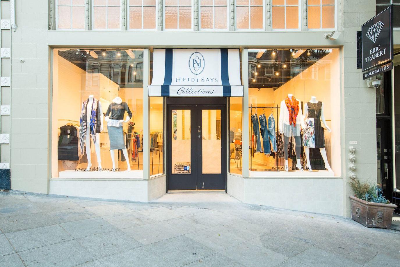 HeidiSay's store front on Fillmore Street