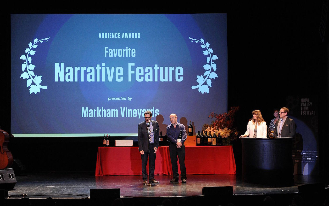 An awards ceremony at the 2015 NVFF