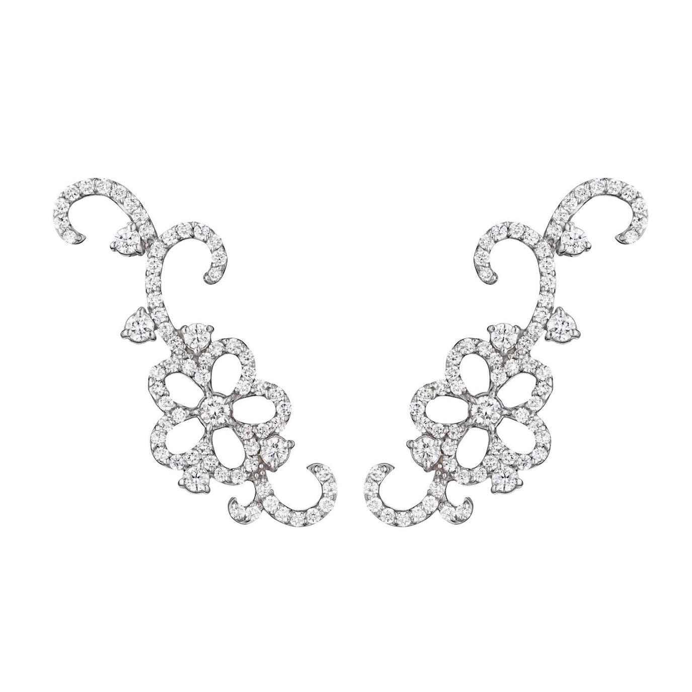 Penny Preville enchanted garland ear cuffs can be found at Shreve & Co