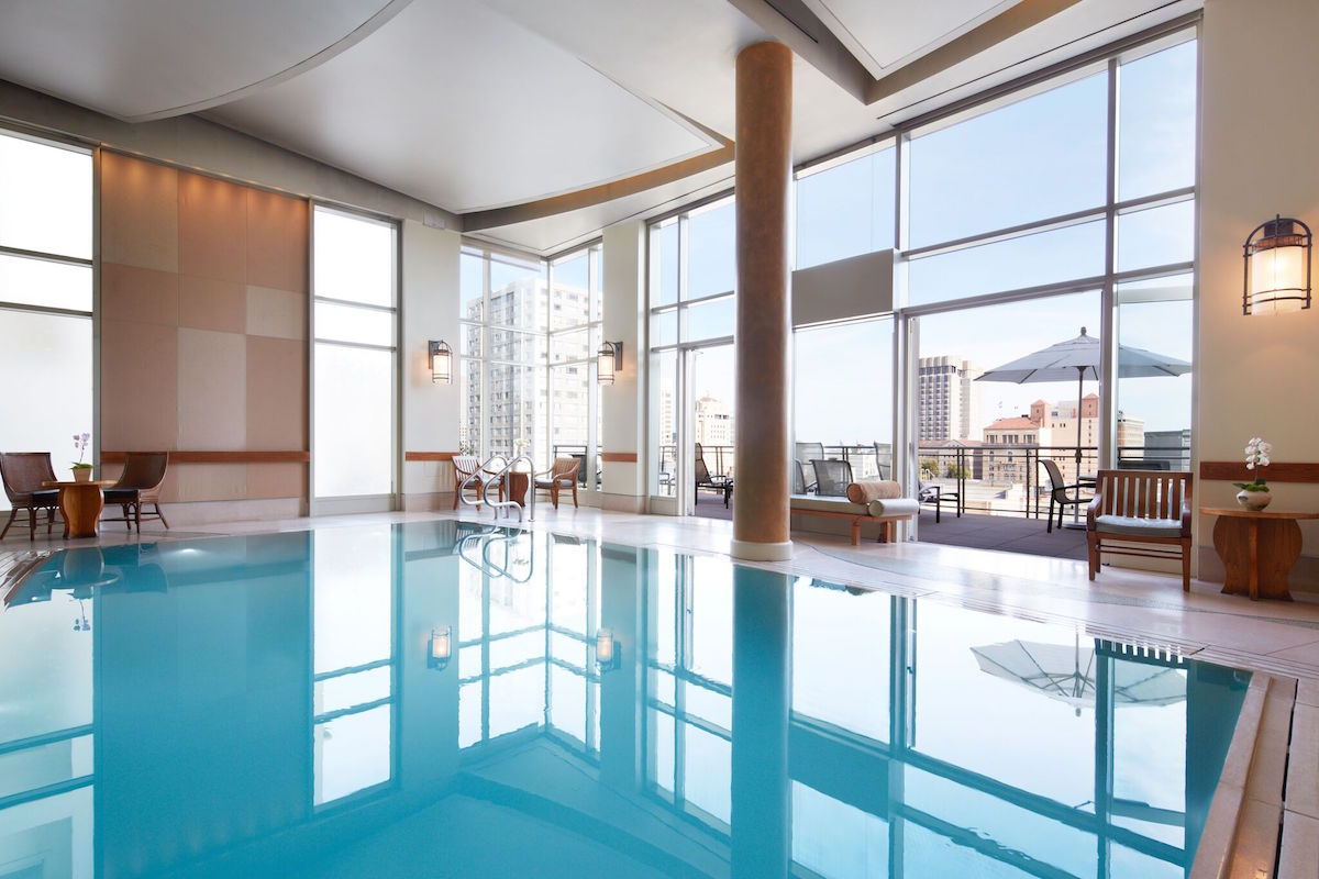 The pool at the Nob Hill Spa