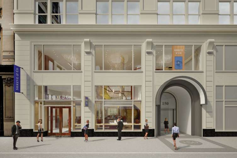 A rendering of the new Shreve & Co.