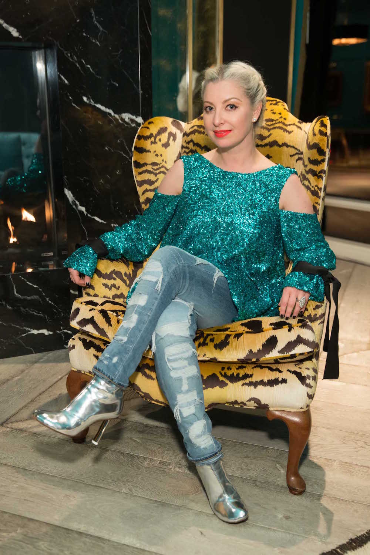 Sonya Molodetskaya wears a Major Obsessions top