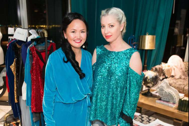 SAN FRANCISCO, CA - December 7 -  Altana Danzhalova and Sonya Molodetskaya attend Major Obsessions Fashion Project Launch December 7th 2016 at The Harrison in San Francisco, CA (Photo - Devlin Shand for Drew Altizer Photography)