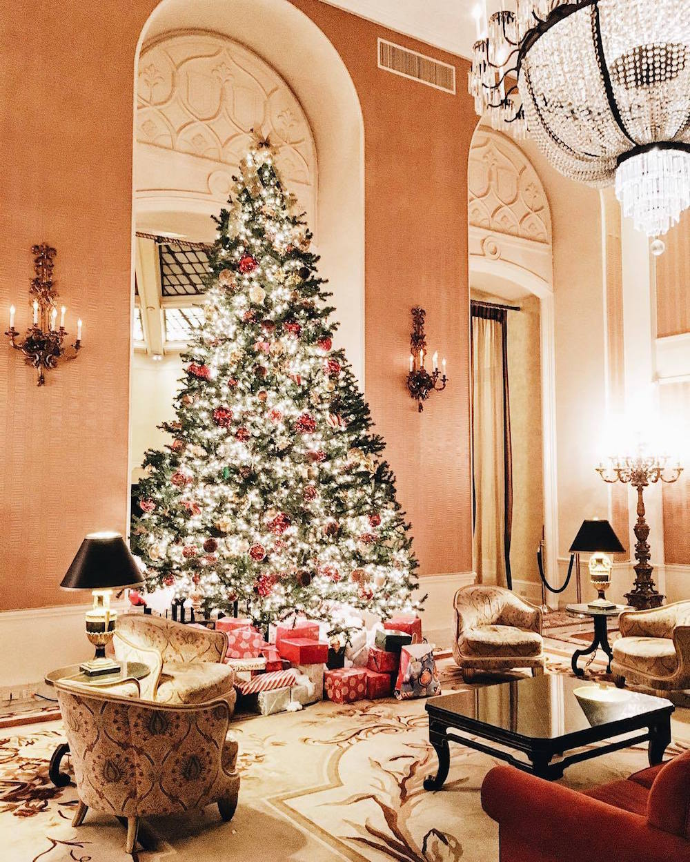 The holiday cheer at the Intercontinental Mark Hopkins Hotel