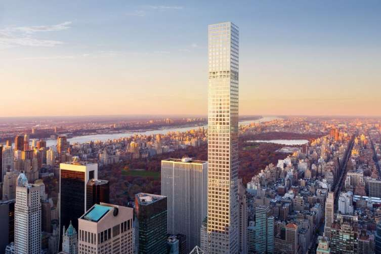 432 Park Avenue towers over the New York's cityscape.