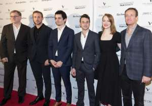 SAN FRANCISCO, CA - December 8 -  Noah Cowan, Ryan Gosling, Damien Chazelle, Justin Hurwitz, Emma Stone and Todd Traina attend SF FILM SOCIETY PRESENTS SF HONORS: 'LA LA LAND' December 8th 2016 at The Castro Theatre in San Francisco, CA (Photo - Drew Altizer)
