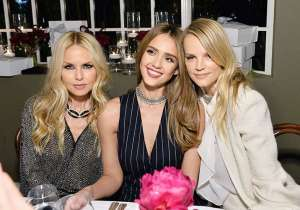 (L-R) Rachel Zoe, Jessica Alba and Kelly Sawyer