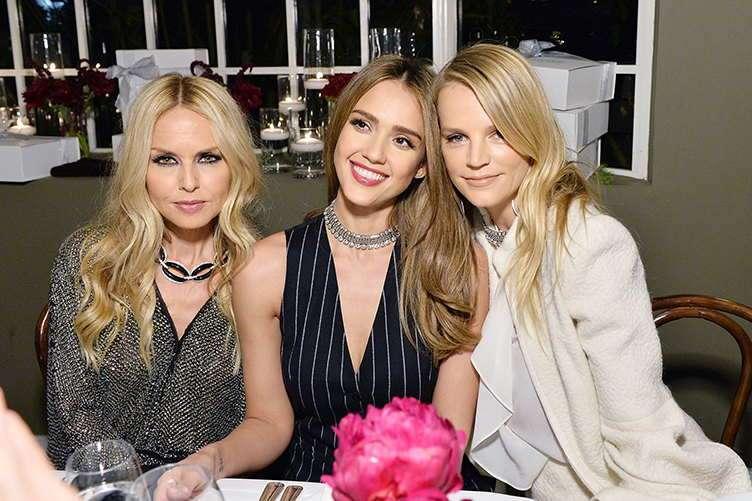 (L-R) Rachel Zoe, Jessica Alba and Kelly Sawyer