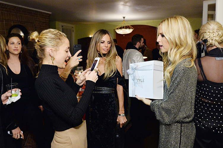 Nicole Richie and Rachel Zoe attend The Zoe Report's Box of Style dinner