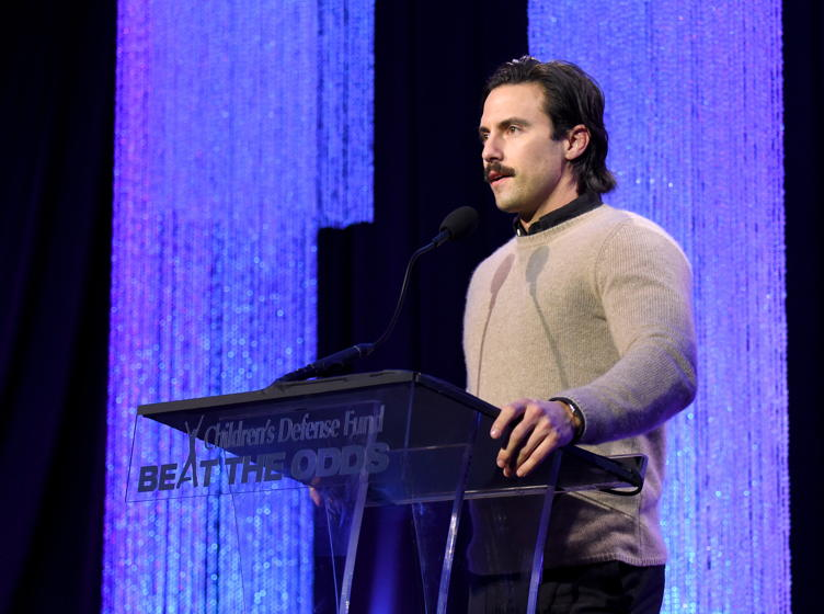 Milo Ventimiglia speaks onstage during the 26th Annual Beat The Odds Award