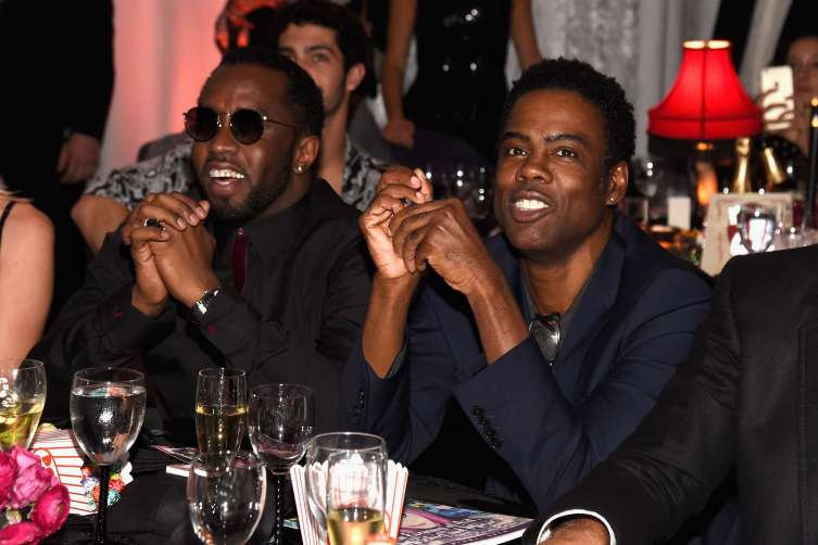 "MIAMI BEACH, FL - DECEMBER 02: Sean ""Diddy"" Combs aka Puff Daddy (L) and Chris Rock attend An Evening of Music, Art, Mischief and Performance to benefit Raising Malawi presented by Madonna at Faena Forum on December 2, 2016 in Miami Beach, Florida. (Photo by Kevin Mazur/Getty Images for Bulgari)"