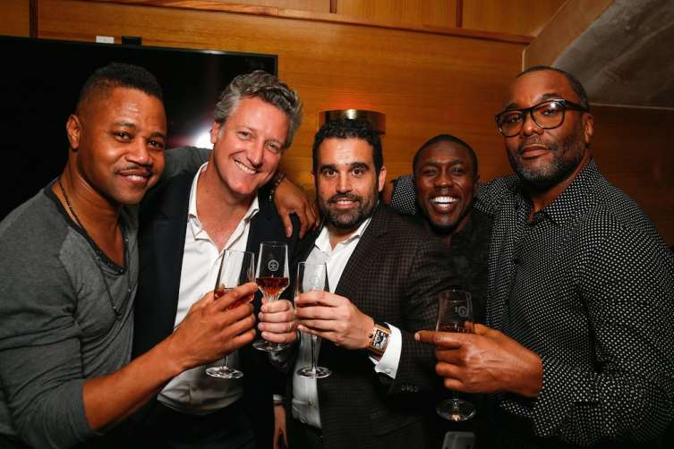 Actor Cuba Gooding Jr., Vice President of Louis XIII Yves de Launay, Co-Founder of Haute Living Seth Semilof, World Champion Boxer Andre Berto and Producer/Director Lee Daniels