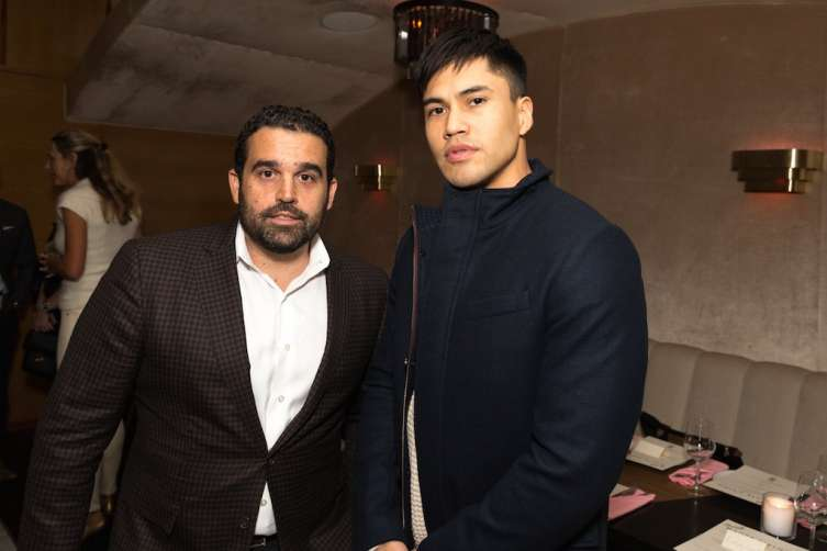 Seth Semilof and actor Martin Sensmeier