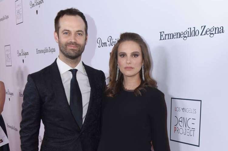 Dancer and choreographer Benjamin Millepied and actress Natalie Portman