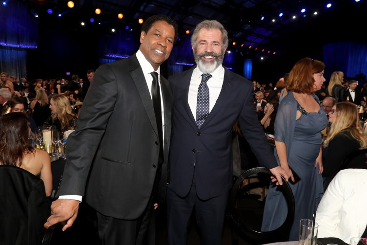 Denzel Washington (L) and Mel Gibson