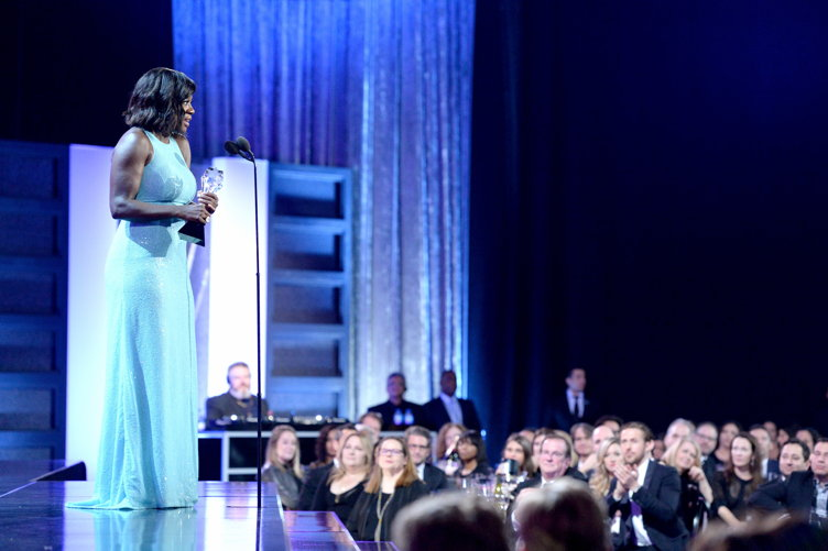 Viola Davis accepts Best Supporting Actress for 'Fences' onstage during The 22nd Annual Critics' Choice Awards