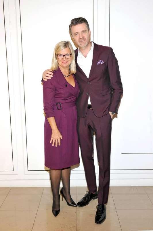 CEO of BAFTA Chantal Rickards (L) and BAFTA director James Knight