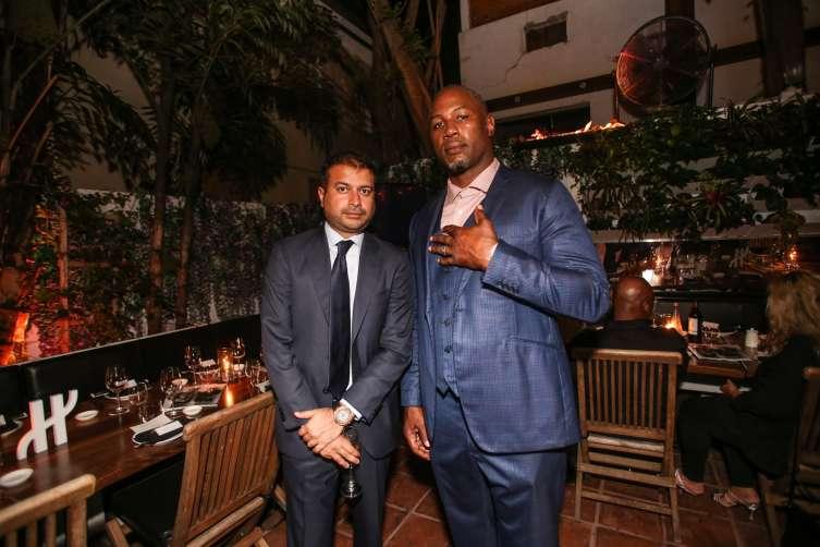 Kamal Hotchandani and Lennox Lewis