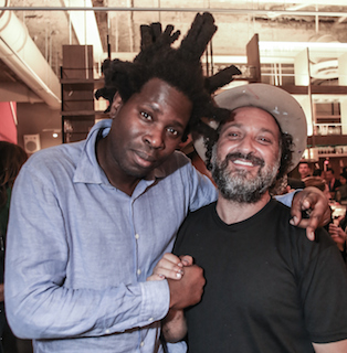 Bradley Theodore with Mr. Brainwash by Thaddaeus McAdams