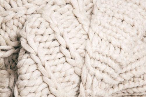 Jessie Black Hand-Knit Chunky Merino Wool Blanket $700+