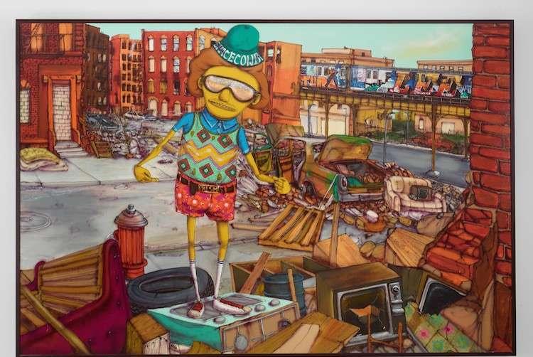 Jorge Perez's Osgemeos, South Bronx, 2016. Mixed Media on wood