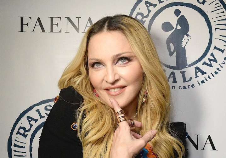 MIAMI BEACH, FL - DECEMBER 03:  Madonna at her Evening of Music, Art, Mischief and Performance to Benefit Raising Malawi at Faena Forum on December 3, 2016 in Miami Beach, Florida.  (Photo by Kevin Mazur/Getty Images for Bulgari)