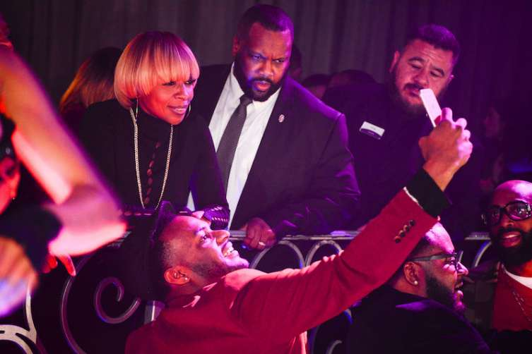 Mary J. Blige at LAX Nightclub.