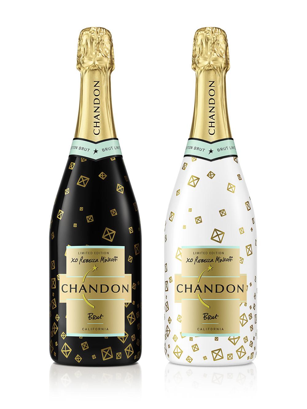 Domaine Chandon's limited edition holiday bottles designed by Rebecca Minkoff