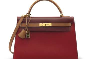 RE A ROUGE H ROUGE VIF & NATURAL CALFBOX LEATHER SELLIER KELLY