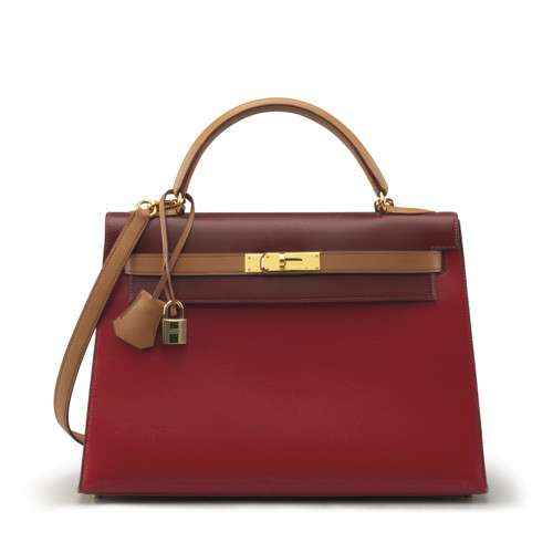 ROUGE H ROUGE VIF & NATURAL CALFBOX LEATHER SELLIER KELLY