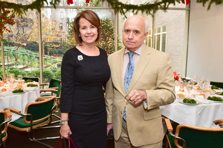 Diane Clehane, Ernest Schmatolla== Jean Shafiroff Hosts Holiday Party== Michael's Restaurant, NY== December 15, 2016== ©Patrick McMullan== Photo - Sean Zanni/PMC== ==