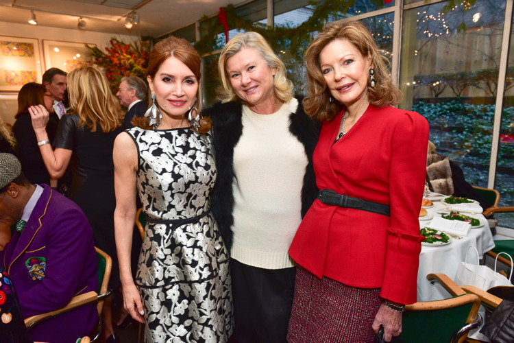Jean Shafiroff, Liliana Cavendish, Margo Langenberg== Jean Shafiroff Hosts Holiday Party== Michael's Restaurant, NY== December 15, 2016== ©Patrick McMullan== Photo - Sean Zanni/PMC== ==