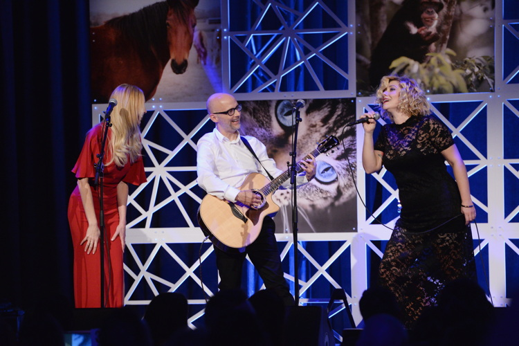 Moby performs during The Humane Society of the United States To the Rescue! New York Gala: Saving Animal Lives on Friday, Nov. 18, 2016 in New York City. To the Rescue! is a benefit in celebration of the life-saving work of its animal rescue efforts across the nation and around the world. In its seventh year, the event honored Georgina Bloomberg and HUGO BOSS, and featured a performance by Moby. (Charles Sykes/Invision for The Humane Society of The United States/AP Images)