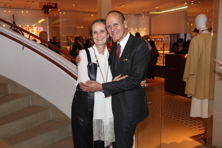 Pascale Mussard, Bob Chavez at the Hermes holiday party. Photo: BFA.com