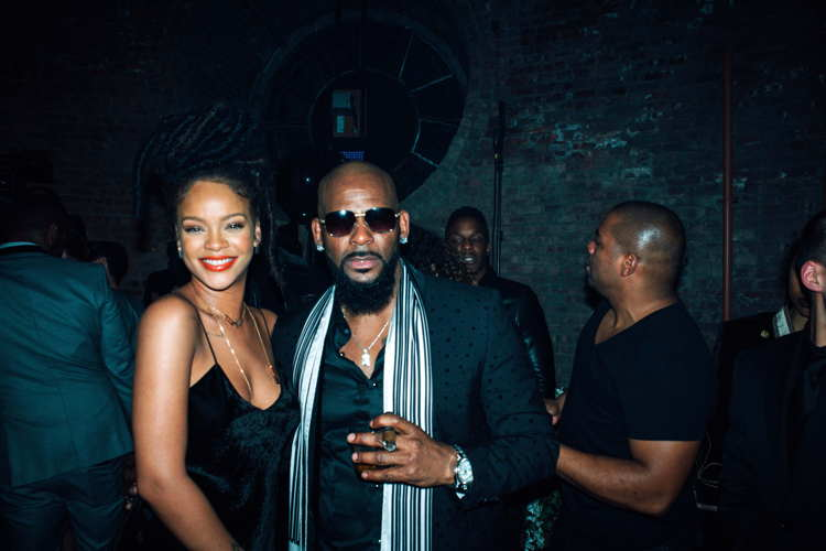 RERihanna and R.Kelly attend Alexander Wang X Beats by Dre with Specialty Drinks by Don Julio in New York City