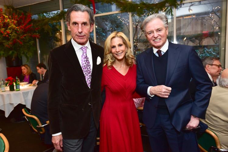 Roy Kean, Randi Schatz, Geoffrey Bradfield== Jean Shafiroff Hosts Holiday Party== Michael's Restaurant, NY== December 15, 2016== ©Patrick McMullan== Photo - Sean Zanni/PMC== ==