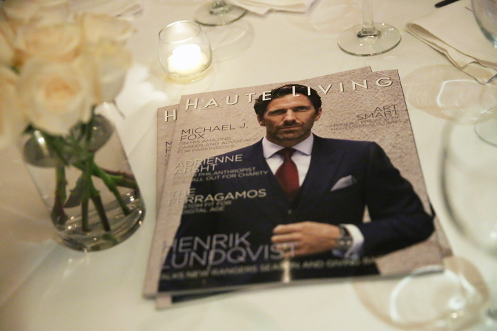 NEW YORK, NY - DECEMBER 05: A view of Haute Living magazines on display at the Haute Living Celebrates New York Cover Launch With Henrik Lundqvist And TAG Heuer At Mr. Chow at Mr Chow on December 5, 2016 in New York City. (Photo by Monica Schipper/Getty Images for Haute Living)