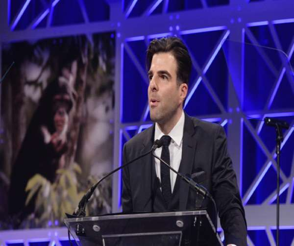 Zachary Quinto speaks onstage during The Humane Society of the United States To the Rescue! New York Gala: Saving Animal Lives on Friday, Nov. 18, 2016 in New York City. To the Rescue! is a benefit in celebration of the life-saving work of its animal rescue efforts across the nation and around the world. In its seventh year, the event honored Georgina Bloomberg and HUGO BOSS, and featured a performance by Moby. (Charles Sykes/Invision for The Humane Society of The United States/AP Images)