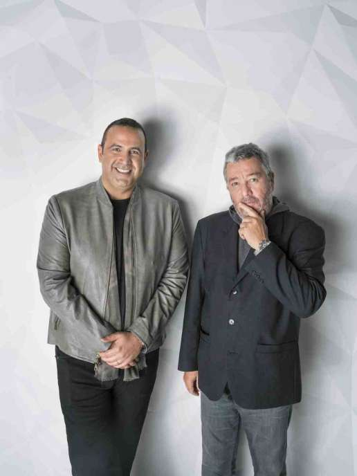 Sam Nazarian and Philippe Starck at SLS Miami