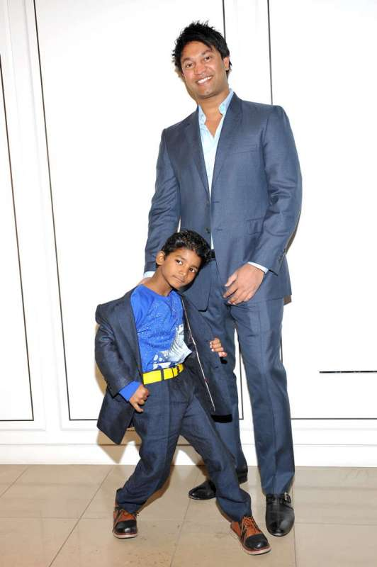 Actor Sunny Pawar (L) and writer Saroo Brierley