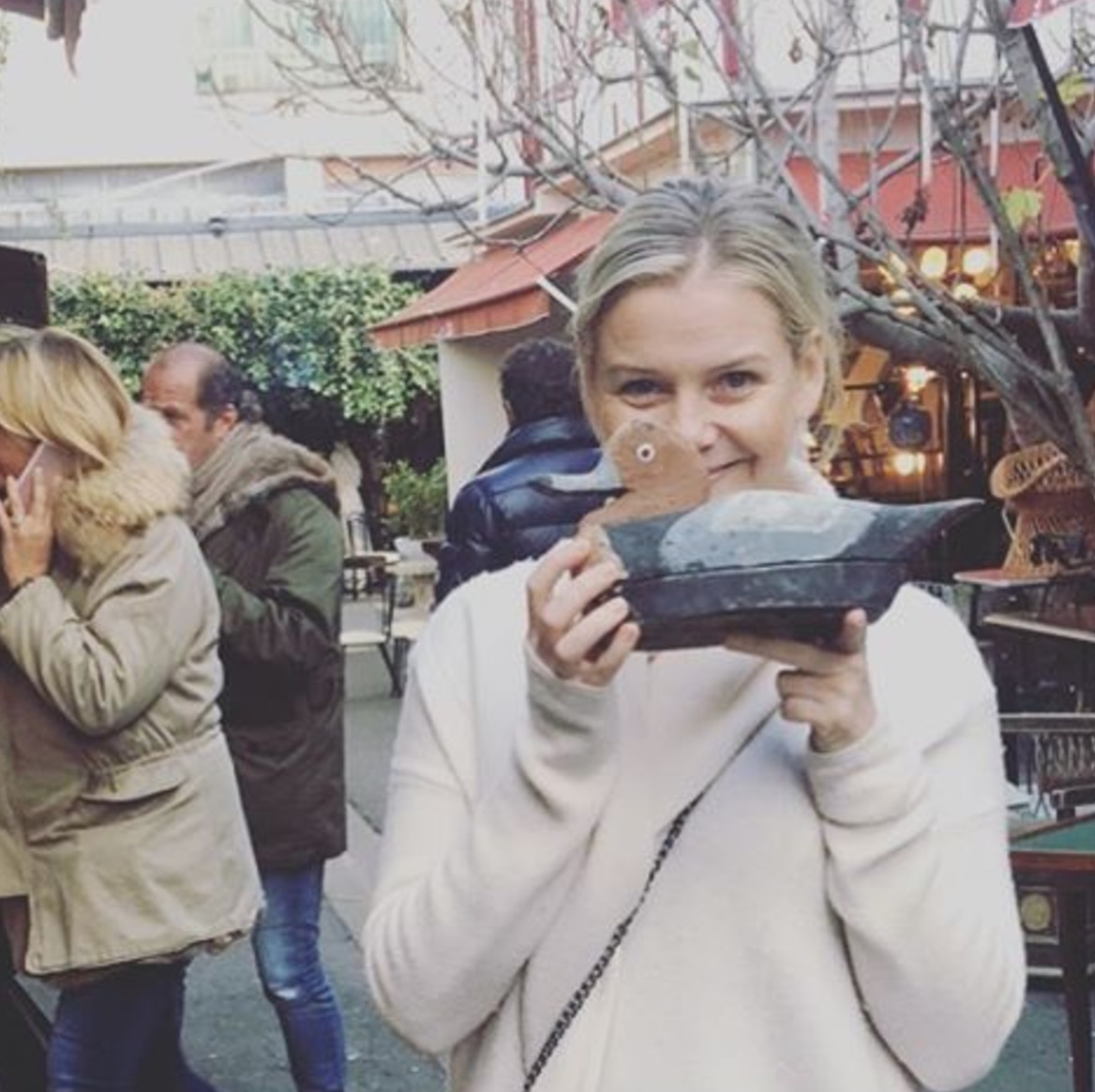 Anna Weinberg poses with a duck decoy, a photo she shared on her Instagram account