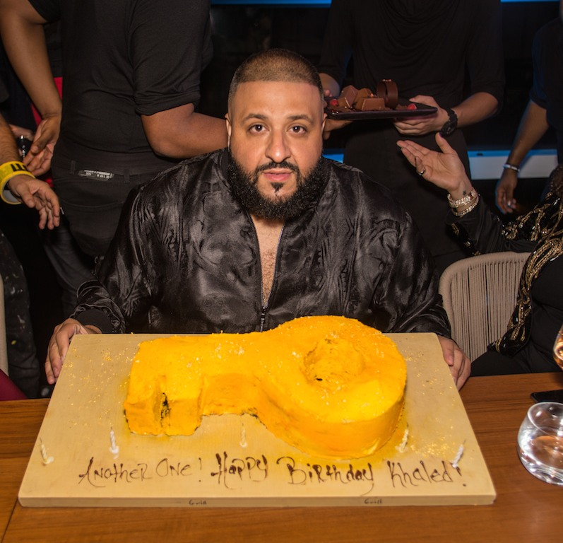dj khaled with cake