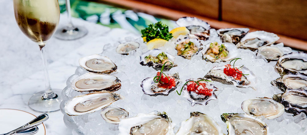 A platter of oysters at Leo's Oyster Bar